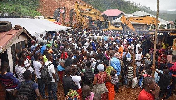 Число жертв оползня в Сьерра-Леоне приблизилось к 500