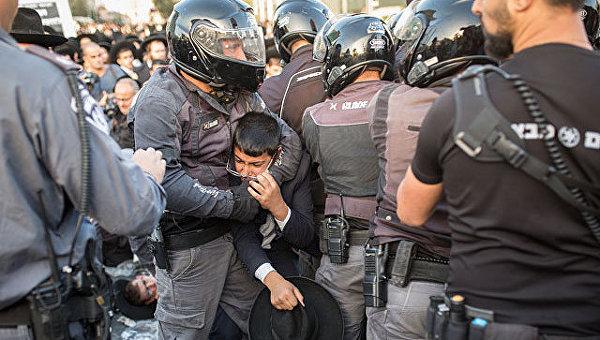 В Израиле задержали ультраортодоксов, выступавших против призыва в армию