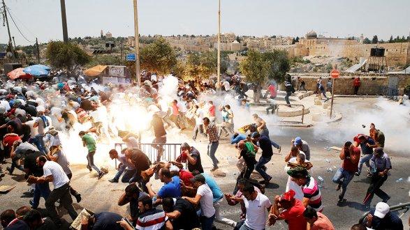 Столкновения в Палестине: десятки пострадавших