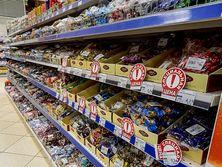 Прилавок магазина в Приднестровье заполнен украинскими товарами