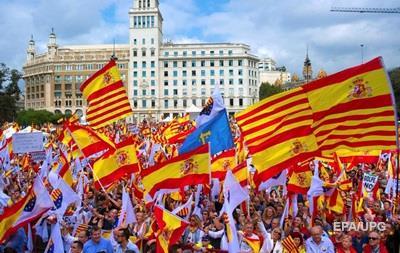 В Барселоне митинговали за единство с Испанией