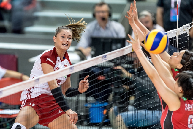 Women's volleyball: Poland beat Japan in Nations League game