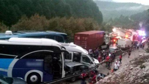 В Турции произошла крупная авария с участием 30 автомобилей