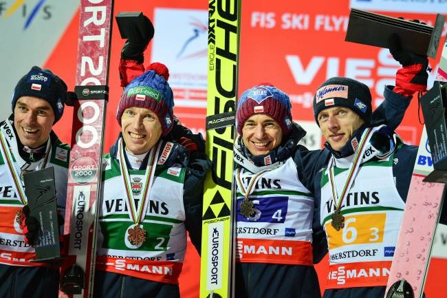 Team Poland finishes third at ski flying World Championships
