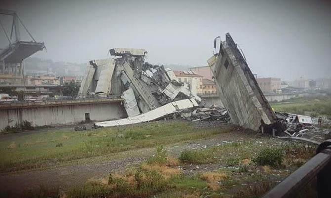 В Италии подтвердили гибель 35 человек в результате обрушения моста в Генуе