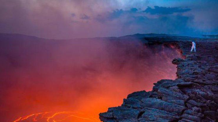 В Эфиопии сняли улыбающийся вулкан (фото)