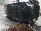 Автомобіль із дитиною в салоні впав із багаторівневої розв`язки в Києві. ФОТО