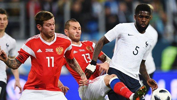 ФИФА начала расследование из-за расизма на игре сборных РФ и Франции