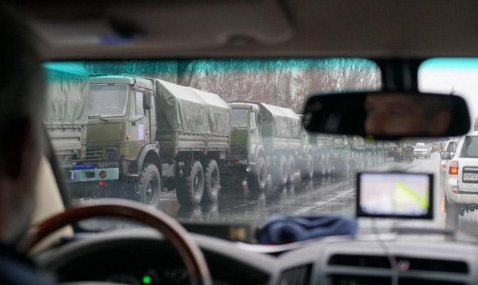 В ОБСЕ показали военную колонну, вошедшую в Луганск