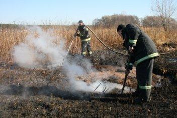 Понад 30 разів виїжджали пожежники Херсонщини на гасіння загорянь сухої трави