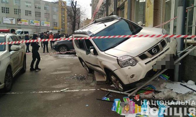 В Киеве банда расстреляла внедорожник и забрала сумку с деньгами