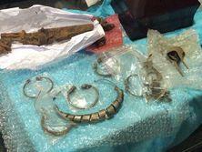 У гражданина одной из стран Балтии обнаружили ювелирные украшения и элементы старинного оружия
