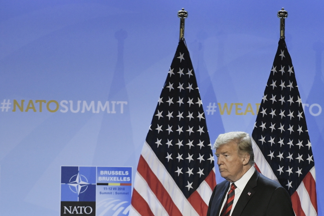 Trump urges NATO countries to double military spending target