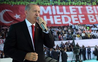 Ердогана переобрали лідером правлячої партії в Туреччині