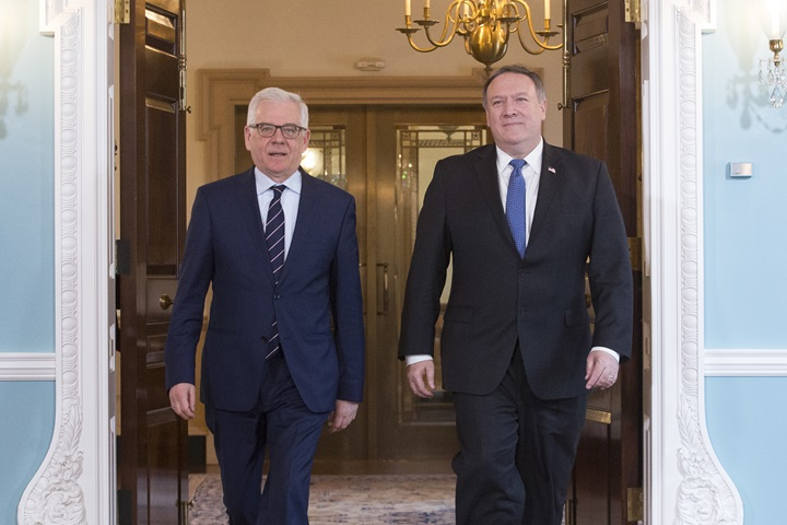 Czaputowicz, Pompeo discuss global security, Polish-US ties