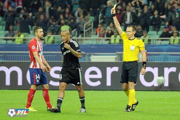 Почему французский судья не назначил пенальти? Спорные эпизоды матча «Карабах» - «Атлетико»; видео