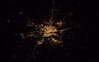 Астронавт NASA опубликовал снимок ночного Киева из космоса