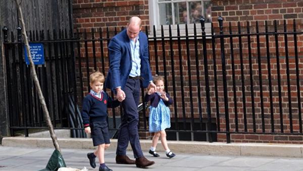 Принц Уильям привез старших детей знакомиться с новорожденным братом