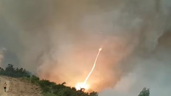 В Португалии сняли на видео «огненное торнадо» (ВИДЕО)