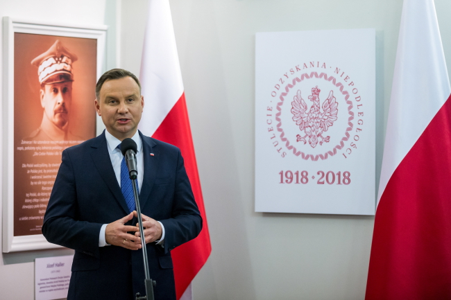 Президент Анджей Дуда закликав вшановувати 100-річчя незалежності Польщі