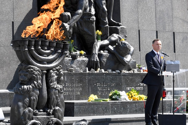 75th anniversary of Warsaw Ghetto Uprising outbreak commemorated