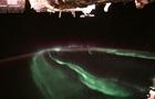 Завораживающее  северное сияние сняли с МКС