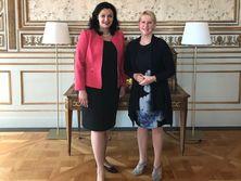 Климпуш-Цинцадзе встретилась с министром иностранных дел Швеции Маргот Вальстрем