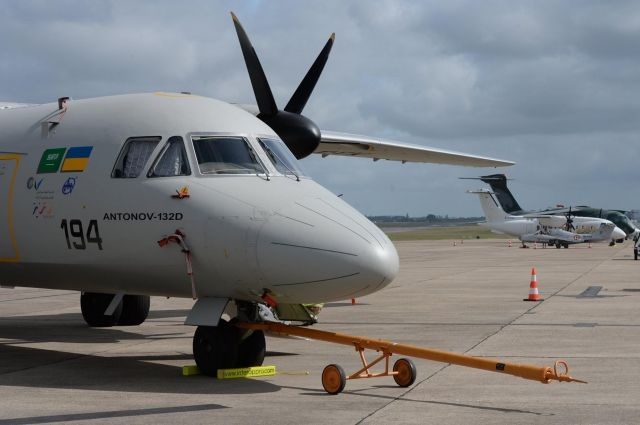 Самолет Ан-132D провел тренировочный полет перед авиасалоном во Франции