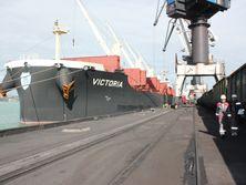 В порте Южный разгружают вторую партию угля из США
