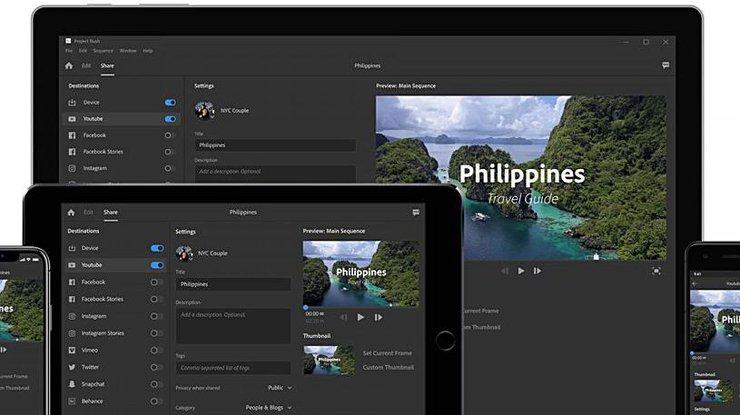 Adobe выпустил новый видеоредактор