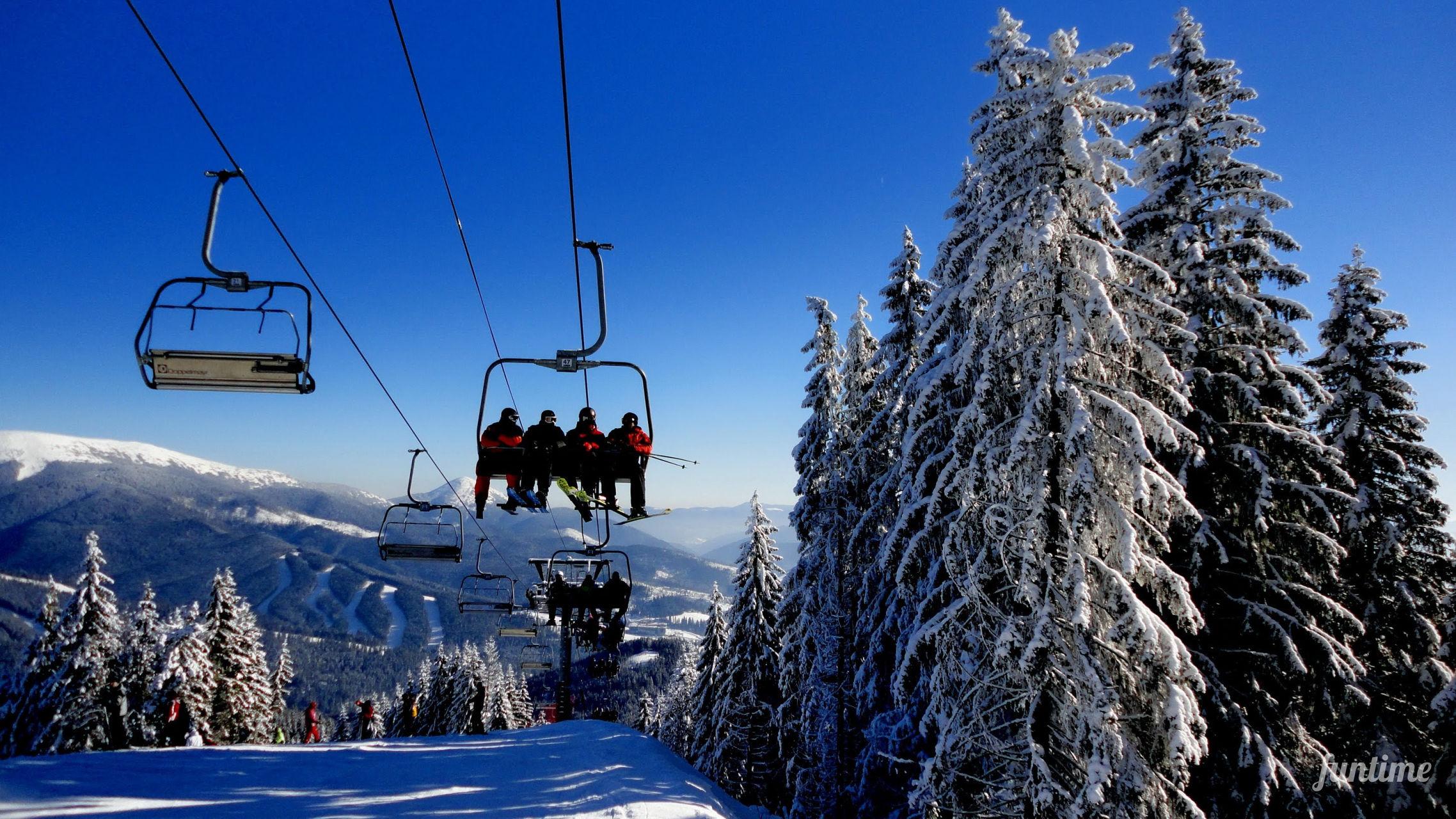 Сколько стоит покататься на лыжах на Новый год в Украине