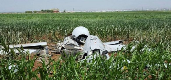 В Турции разбился американский беспилотник