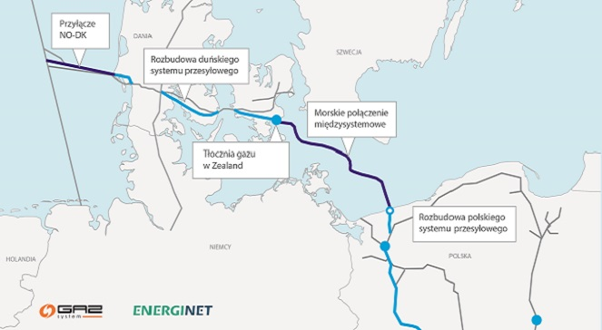 Выбран маршрут для газопровода Baltic Pipe