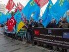 Пикет в знак протеста против аннексии Крыма прошел возле консульства РФ в Стамбуле. ФОТОрепортаж+ВИДЕО