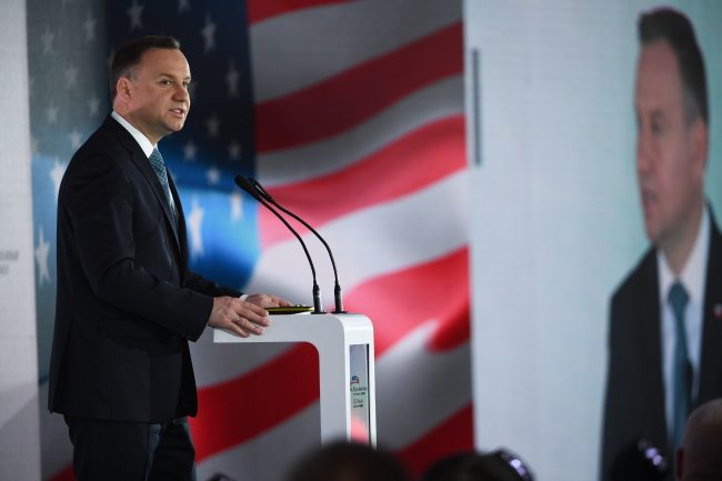 Polish president stresses importance of business ties with US