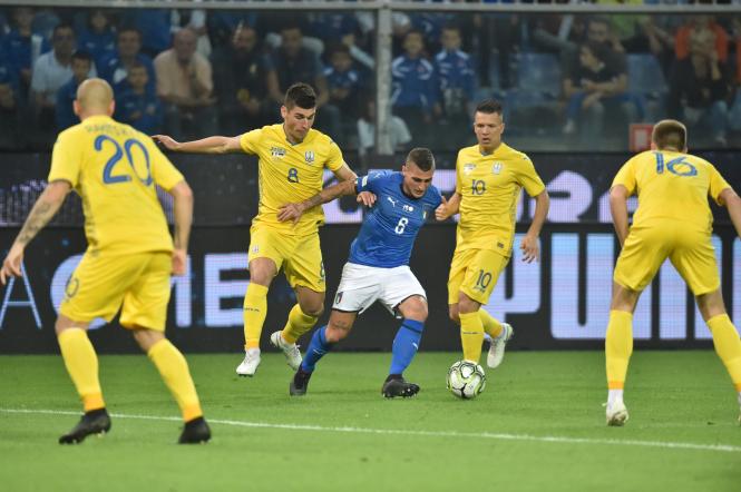Сборная Украины сыграла вничью с Италией