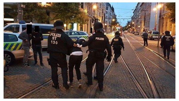 В Германии произошла массовая драка футбольных фанатов и мигрантов