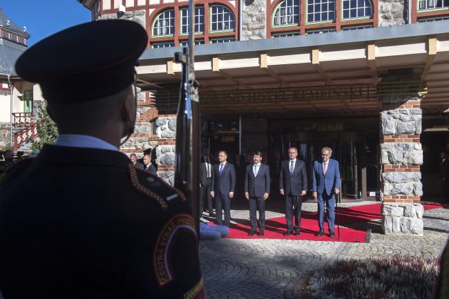 В Словакии начался двухдневный саммит президентов Вышеградской группы