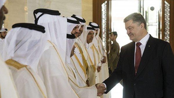 Порошенко пригласил инвесторов из Катара приватизировать имущество Украины