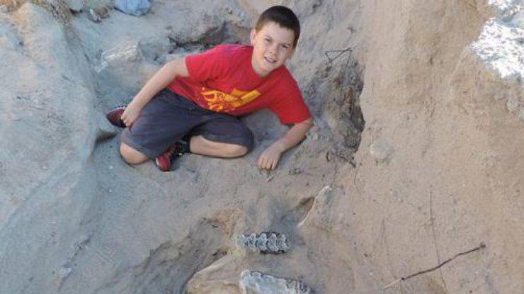 10-летний мальчик нашел остатки древнего животного (фото)