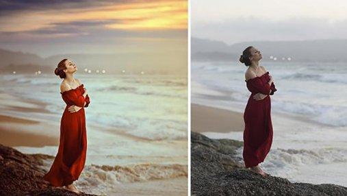 Фотограф показала снимки до и после Photoshop: разительная разница
