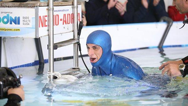 В Хорватии ныряльщик задержал дыхание более чем на 24 минуты