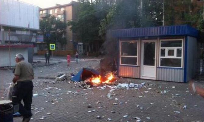 В оккупированном Донецке взорвался грузовик с боеприпасами