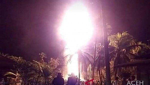 В Индонезии вспыхнула нефтяная скважина: 10 человек погибли