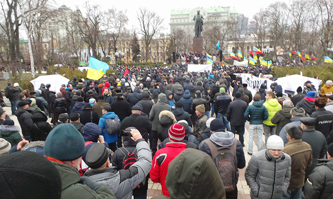 В Киеве проходит марш «Марш за будущее», организованный Рухом новых сил Саакашвили