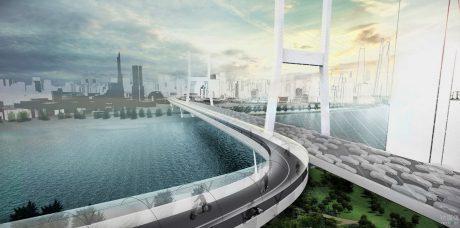 ВMW представила концепцию надземных дорог будущего
