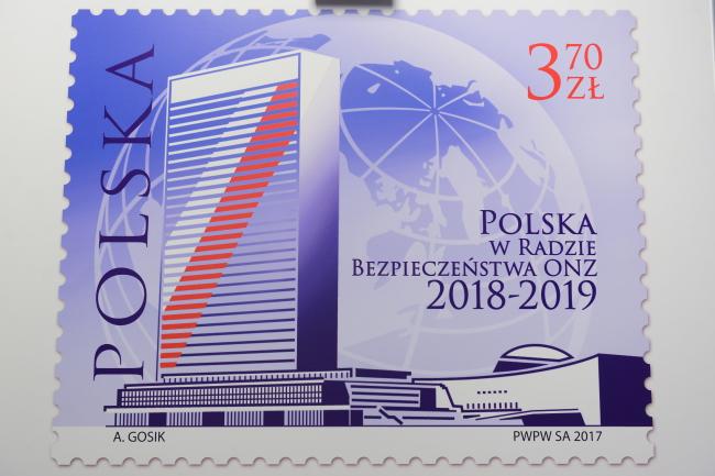 З'явилася поштова марка приурочена участі Польщі в Раді безпеки ООН