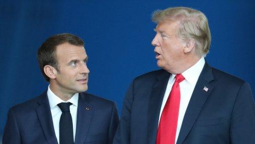 Макрон выступил в защиту Трампа во время саммита НАТО