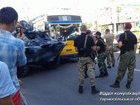 Тролейбус зіткнувся з поліцейським БРДМ у Тернополі. ФОТО